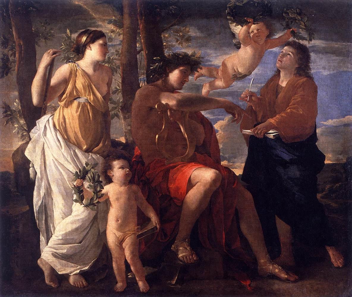 La inspiración del poeta de Nicolas Poussin